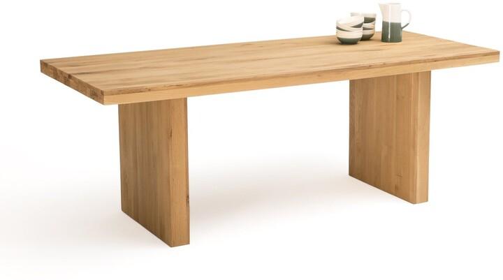 La Redoute Interieurs Vova Solid Oak Dining Table, Seats 6/8