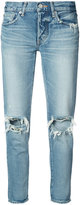 Moussy distressed tapered jeans - women - Cotton - 23