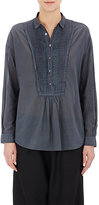 Pas De Calais Women's Pleated Voile Shirt-DARK GREY