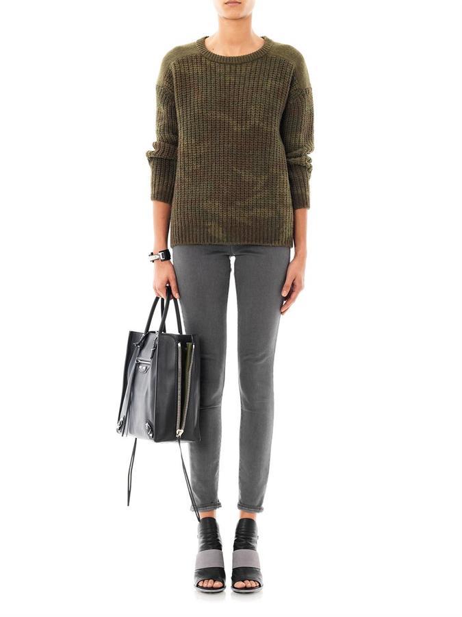 AR+ Ar Srpls Camo-knit wool sweater