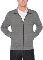 Perry Ellis Big & Tall Pattern Jacquard Full-Zip Knit Jacket