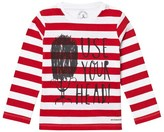 Burberry Red Stripe Use Your Head Beefeater Print Junior Tee