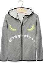 Gap GapFit kids spooky zip hoodie
