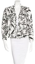 Alice + Olivia Floral Open-Front Cardigan
