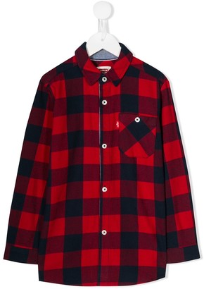Levi's Kids check print shirt