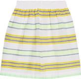 Lemlem Tinish striped cotton-blend gauze mini skirt