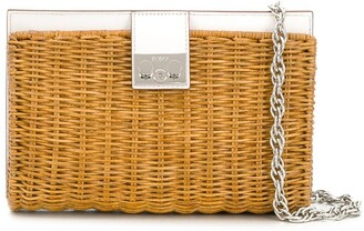 Rodo Half Wicker clutch shoulder bag