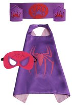 Cocoliu Super Hero Cape Bundle - 4 Items - 1 Cape - 1 Mask - 1 Waistband - 2 Wristbands – Great for Kids Birthday Party , Halloween , pretend play parties , Christmas