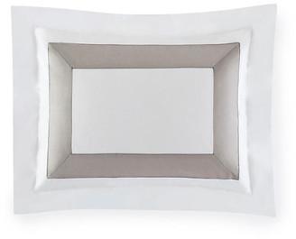Sferra Orlo Boudoir Sham - White/Gray