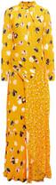 Thumbnail for your product : Self-Portrait Cutout Floral-print Crepe Maxi Dress