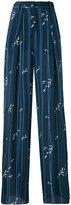 Emporio Armani striped palazzo pants - women - Viscose/Silk - 38