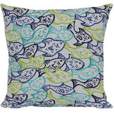 OUTDOOR OASIS Outdoor OasisTM Fish Frenzy Outdoor Pillow