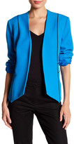 Kasper Contrast Piping Flyaway Jacket