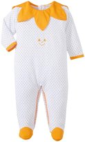 Kissy Kissy Mischief Makers Print Footie (Baby) - White-0-3 Months