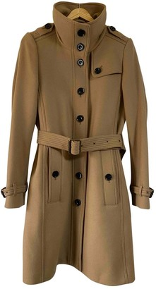 Burberry Camel Wool Trench Coat for Women