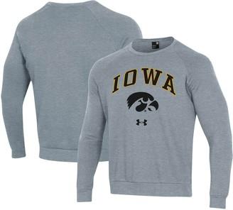 Under Armour Unbranded Men's Heathered Gray Iowa Hawkeyes Arched Fleece Raglan Sweatshirt