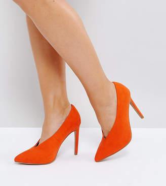 Asos Design PRIORITY Wide Fit High Heels-Orange