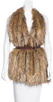 Stella Jean Cary Faux Fur Vest w/ Tags