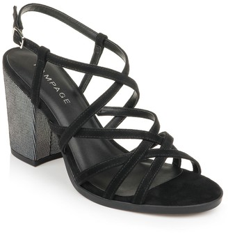 Rampage Emilia Strappy Block Heel Sandal