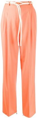 Fabiana Filippi Rope Belt Straight Trousers