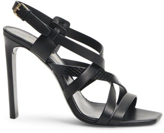 Saint Laurent Bea Strappy Ayers & Leather Slingback Sandals