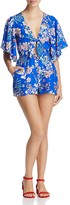 Yumi Kim Castaway Floral Flutter Sleeve Romper