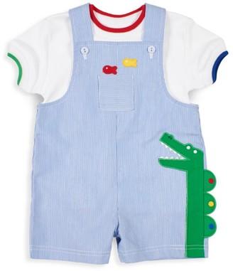 Florence Eiseman Baby Boy's Dino Overall Set