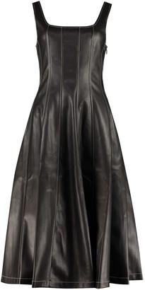 STAUD Wells Faux Leather Dress