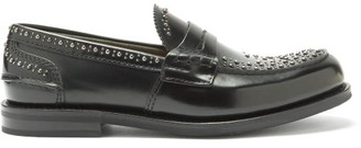Church's Pembrey Rubber-sole Studded Leather Penny Loafers - Black