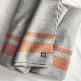 CB2 Faribault Orange Stripe Wool Full/Queen Blanket