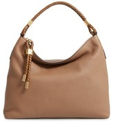 Michael Kors 'Large Skorpios' Leather Hobo - Brown