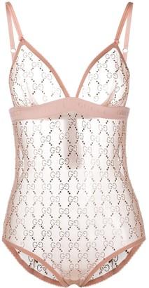 Gucci GG crystal-embellished bodysuit