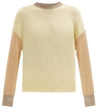 Marni Colour-block Cashmere Sweater - Beige Multi