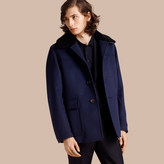 Burberry Cashmere Donkey Jacket With Detachable Shearling Collar