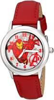 Marvel Kids' W001643 The Avengers Iron Man Analog Display Analog Quartz Red Watch