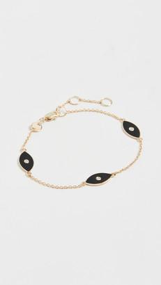 Jennifer Zeuner Jewelry Nazar Enamel Trio Bracelet
