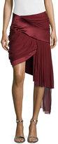 Prabal Gurung Draped Mini Skirt w/Asymmetric Hem, Wine