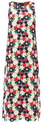 Colville - Floral-crochet Midi Dress - Womens - Multi
