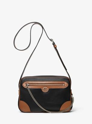 MICHAEL Michael Kors Monogramme Two-Tone Leather Crossbody Bag