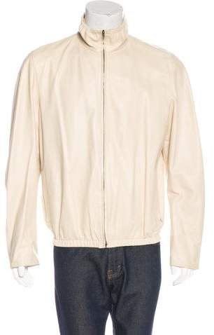 Gucci Reversible Leather & Silk Jacket