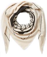 By Malene Birger Patterned Wool Scarf