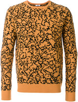 Cmmn Swdn patterned crew neck jumper
