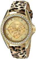 XOXO Women's XO3366 Cheetah Strap Rhinestones Accent Watch