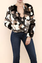 Hot & Delicious Multi Colored Vegan Fur Jacket