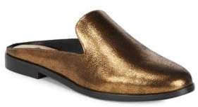Donna Karan Mott Metallic Leather Mules