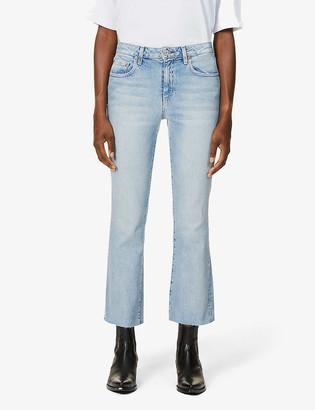 TRAVE Colette mid-rise kick flare stretch-denim jeans