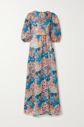 Dodo Bar Or Kate Floral-print Cotton-voile Wrap Maxi Dress - Sand