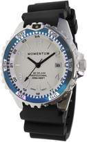 Momentum Women's Quartz Stainless Steel and Rubber Diving Watch, Color:Black (Model: 1M-DN11LT1B)