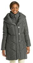 T Tahari Grace Button Front Bib Down Coat