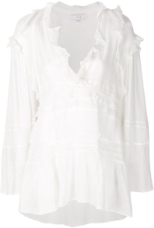 IRO tiered frill blouse